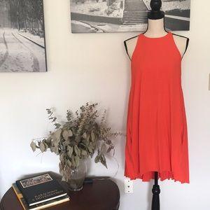 Rachel Roy hi low summer dress with pockets sz M